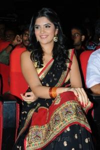 Deeksha Seth in Saree at UKUP Audio Release