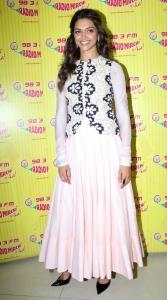Actress Deepika Padukone @ Ram Leela Promotions in Radio Mirchi