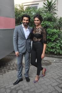 Ranveer and Deepika during the Ram Leela at Mehboob Studio