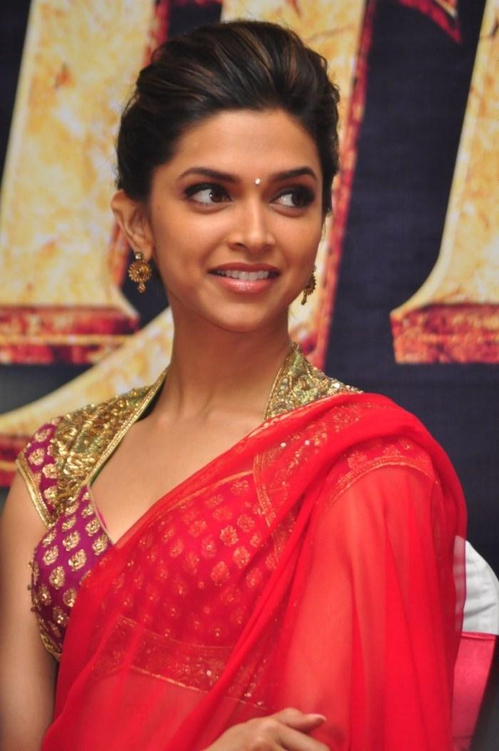 Picture 8460 Deepika Padukone Hot Pics In Red Saree