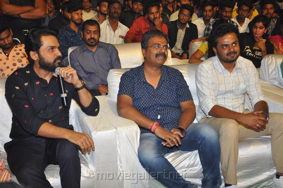 Karthi, S Lakshman Kumar, Rajath Ravishankar @ Dev Movie Pre Release Event Stills