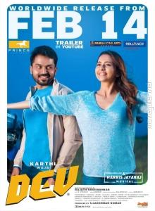 Karthi, Rakul Preet Singh in DEV Movie Release Posters