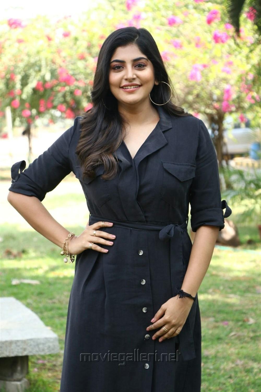 Actress Manjima Mohan @ Devarattam Movie Press Meet Photos