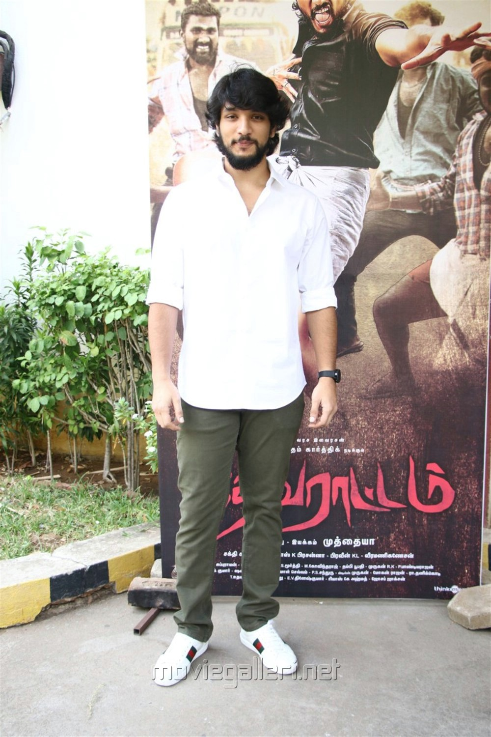 Actor Gautham Karthik @ Devarattam Movie Press Meet Photos