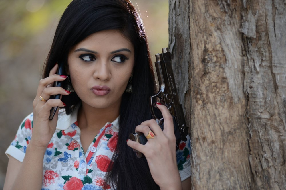 Actress Srimukhi in Dhanalakshmi Talupu Tadithey Movie Stills