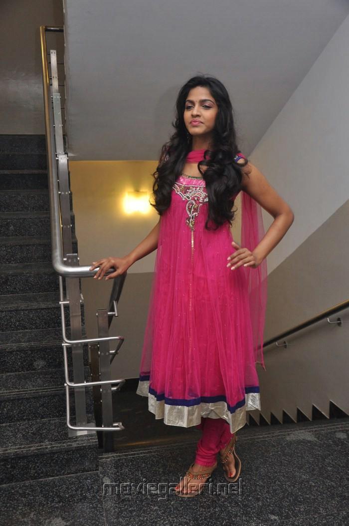 Dhanshika in Pink Churidar New Pics