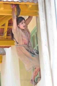 Actress Sai Dhansika Photos @ Udgarshana Movie Shooting Spot