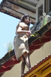 Actress Sai Dhanshika Photos @ Udgarshana Movie Shooting Spot