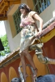 Actress Dhanshika Photos @ Udgarshana Movie Shooting Spot