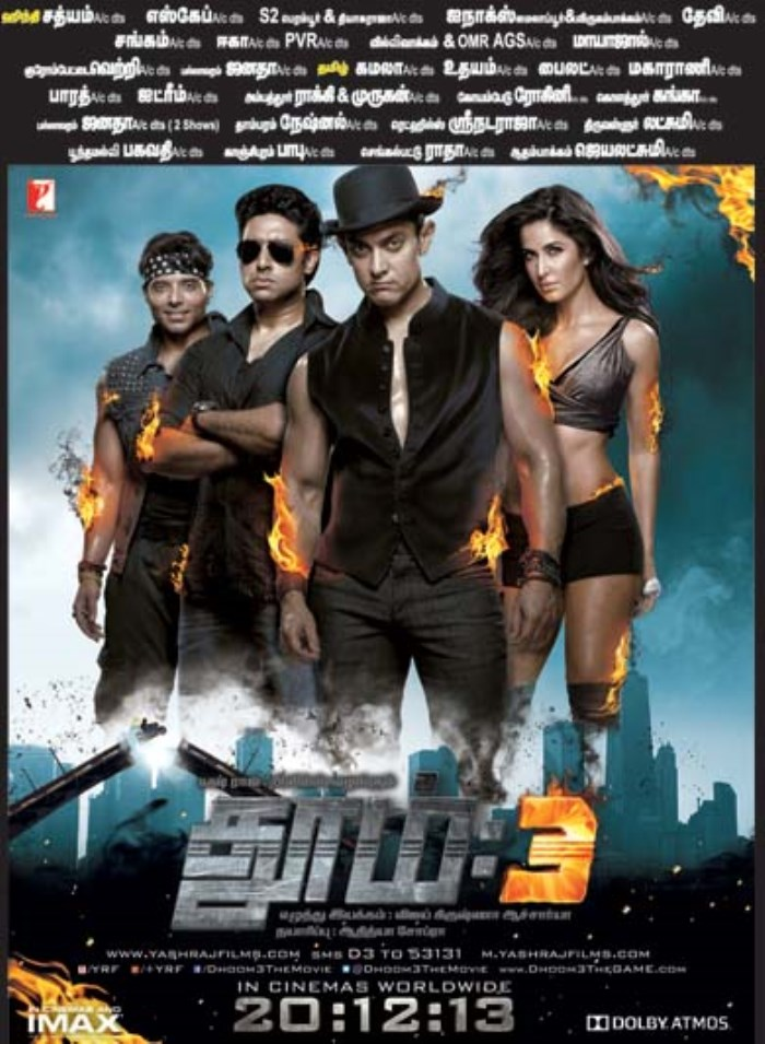 Picture 632080 | Dhoom 3 Tamil Movie Release Posters | New ...