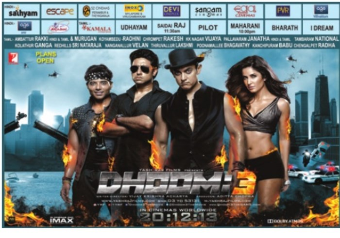 Dhoom 3 Movie Release Posters