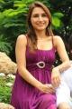 Telugu Actress Dhriti Hot Stills in Violet Dress