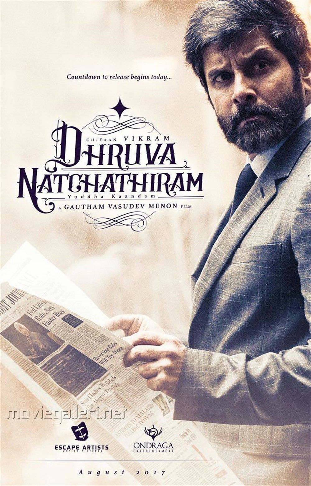 Vikram's Dhruva Natchathiram Movie First Look Posters