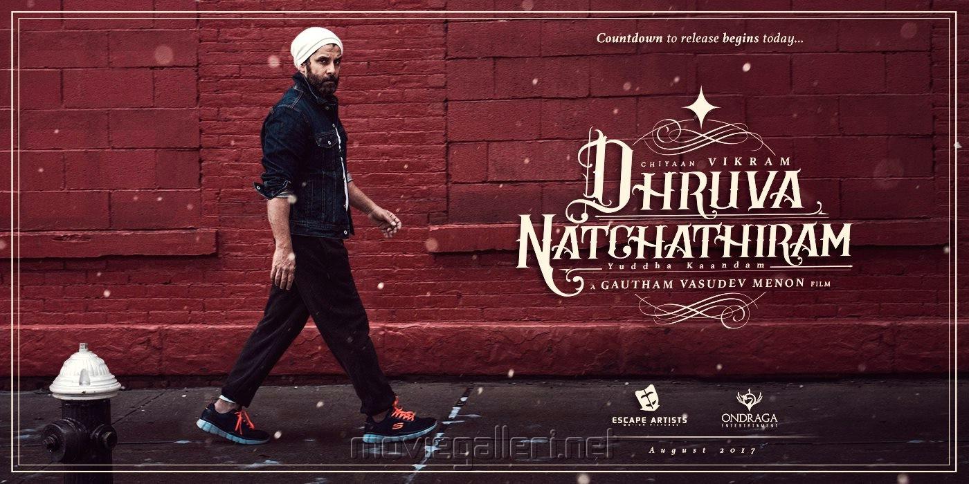 Vikram's Dhruva Natchathiram First Look Wallpapers