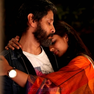 Chiyaan Vikram Aishwarya Rajesh Dhruva Natchathiram Movie New Images