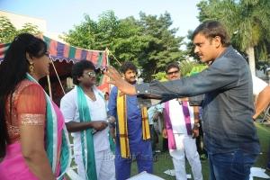 Hema, Raghu Babu, Sriwass @ Dictator Movie Working Stills
