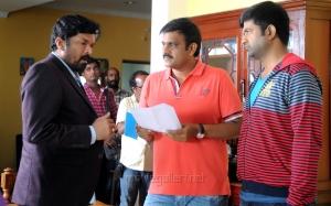 Posani Krishna Murali, Sriwass, Vennela Kishore @ Dictator Movie Working Stills