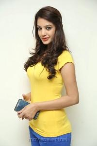 Actress Diksha Panth Pics in Light Yellow Top