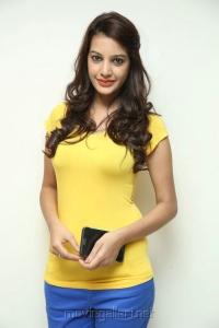 Actress Deeksha Panth Pics in Light Yellow Top