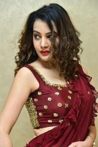 Actress Diksha Panth Red Saree Photos @ Operation 2019 Pre Release