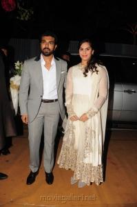Ram Charan Teja, Upasna Kamineni @ Dil Raju Daughter Hanshitha Engagement Photos