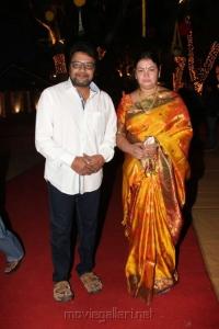Saikumar with Wife @ Dil Raju Daughter Hanshitha Engagement Photos