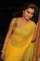 Actress Dimple Chopra Hot Yellow Transparent Saree Stills