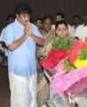 Sundar C, Kushboo respects to Dinathanthi owner Sivanthi Adithan Photos