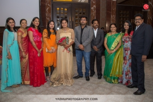 Sangeetha Vijay @ Director KS Ravikumar daughter Maalica after Marriage Party Photos