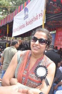 Suhasini Maniratnam at Directors Union Fasting for Tamil Eelam Photos