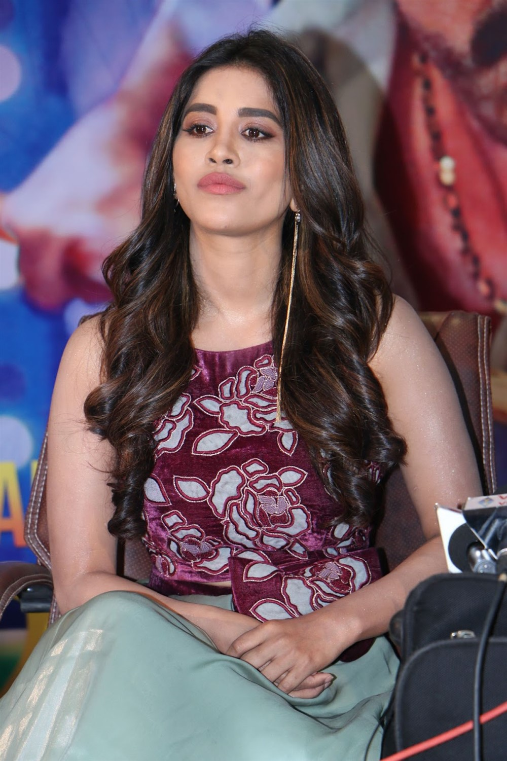 Telugu Actress Nabha Natesh @ Disco Raja Movie Press Meet Stills