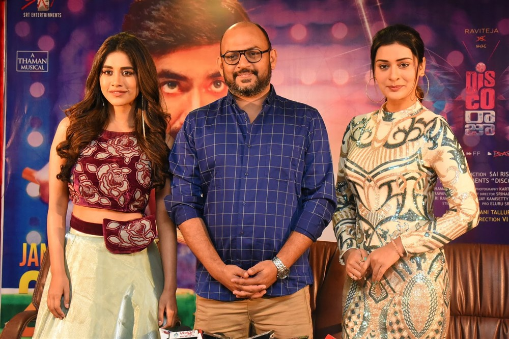 Nabha Natesh, VI Anand, Payal Rajput @Disco Raja Movie Press Meet Stills