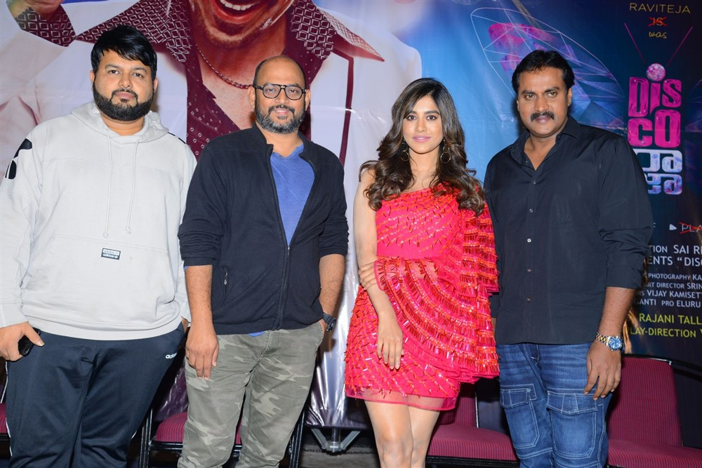 VI Anand, Thaman, Nabha Natesh, Sunil @ Disco Raja Movie Rum Pum Bum Song Launch Stills