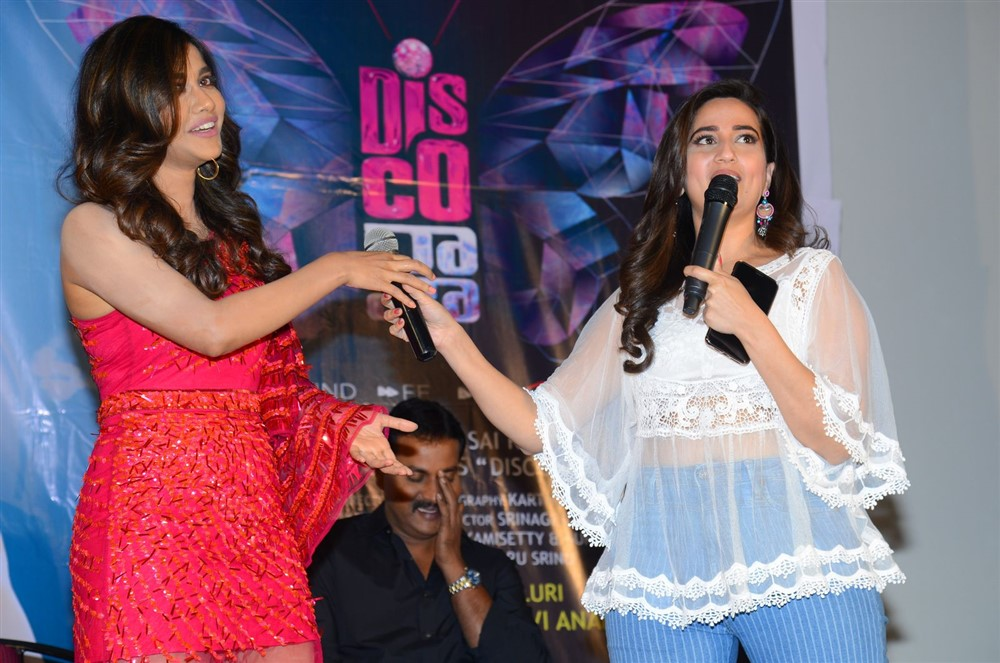Nabha Natesh, Manjusha @ Disco Raja Movie Rum Pum Bum Song Launch Stills
