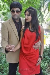 Jai Akash, Khushi Mukherjee at Donga Prema Movie Opening Stills