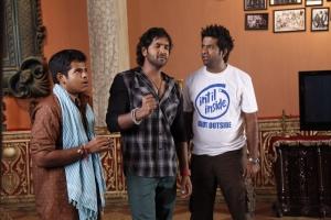 Bharath, Manchu Vishnu, Vennela Kishore in Doosukeltha Movie Latest Stills