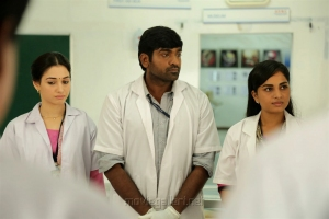 Tamanna, Vijay Sethupathi, Srushti Dange in Dr Dharmaraju MBBS Movie Stills