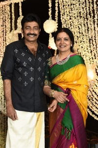 Jeevitha @ Dr Rajasekhar Nephew Karthik Wedding Photos