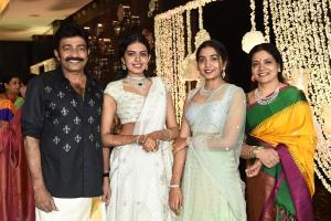 Jeevitha, Sivani, Sivatmika @ Dr Rajasekhar Nephew Karthik Wedding Photos