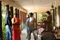 Raghu Babu, Srinivas Ravindra @ Dwaraka Movie Working Stills