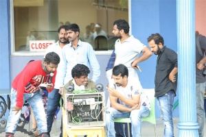 Director Srinivas Ravindra @ Dwaraka Movie Working Stills