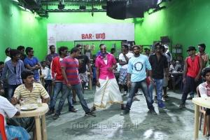 Cricket Player Dwane Bravo @ Ula Movie Shooting Spot Stills