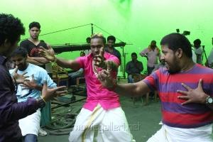 Cricketer Dwayne Bravo at Ula Tamil Movie Shooting Spot Stills