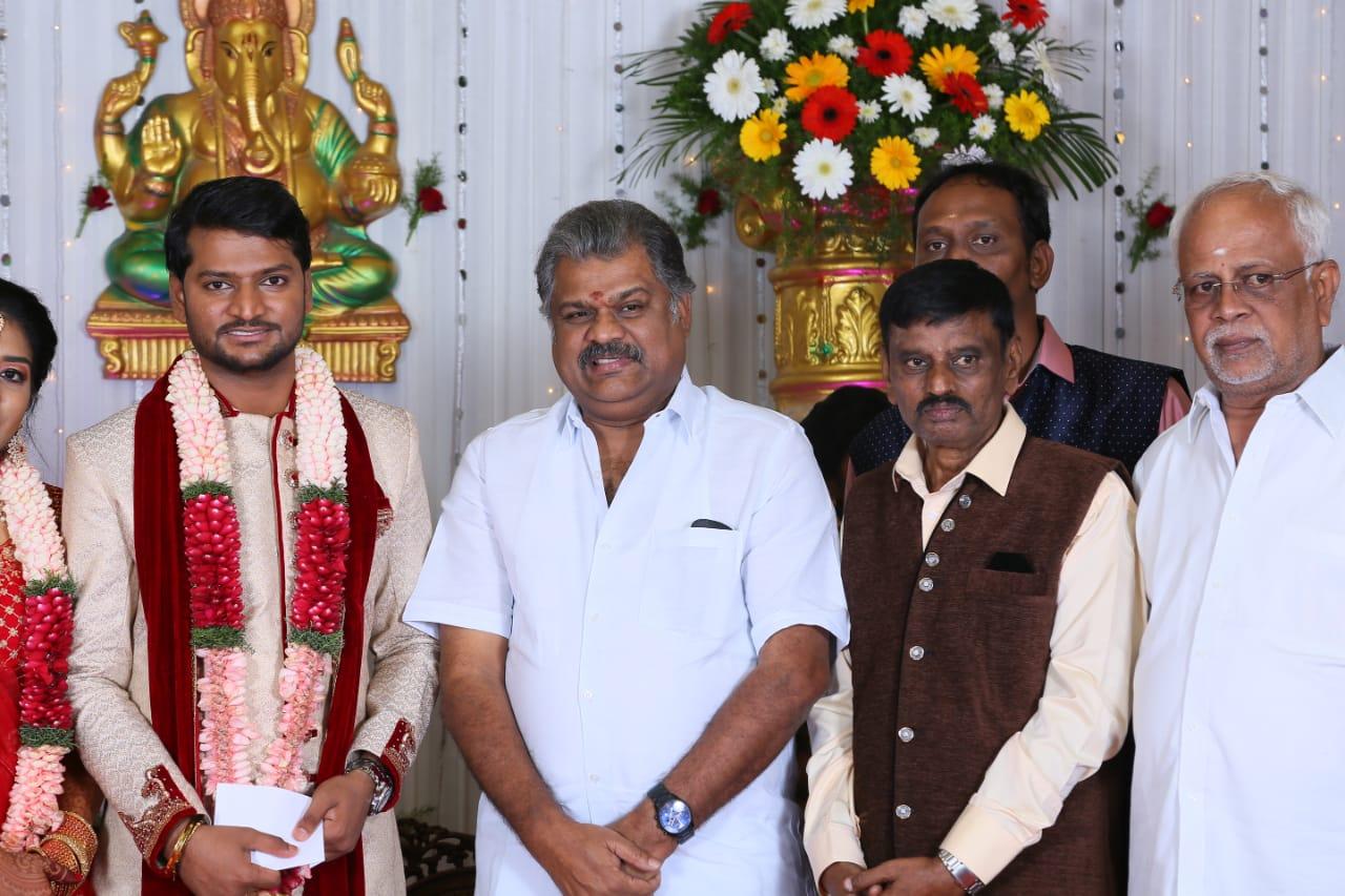 GK Vasan @ Director E Ramdoss Son Marriage Stills