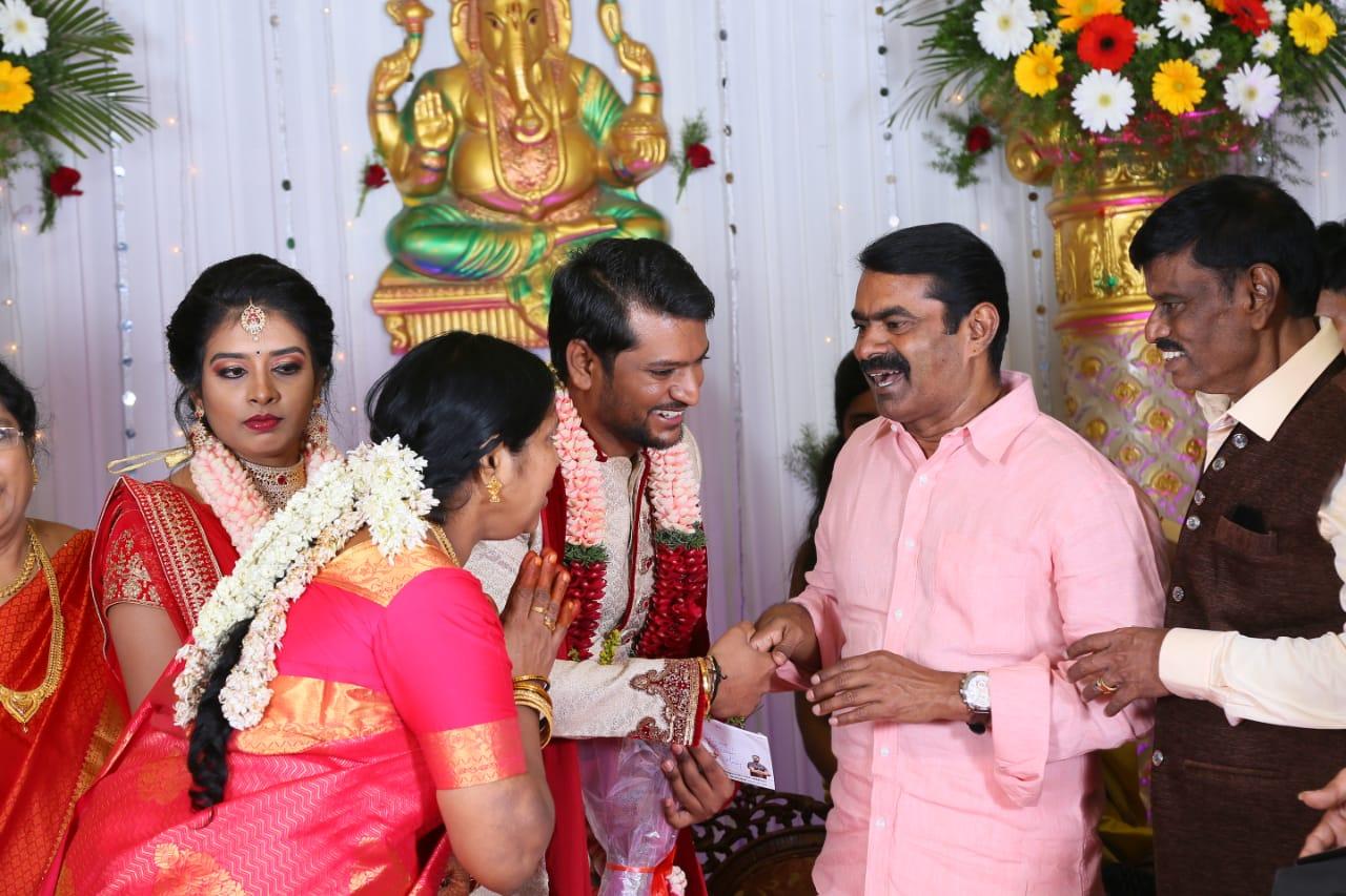 Seeman @ Director E Ramdoss Son Marriage Stills