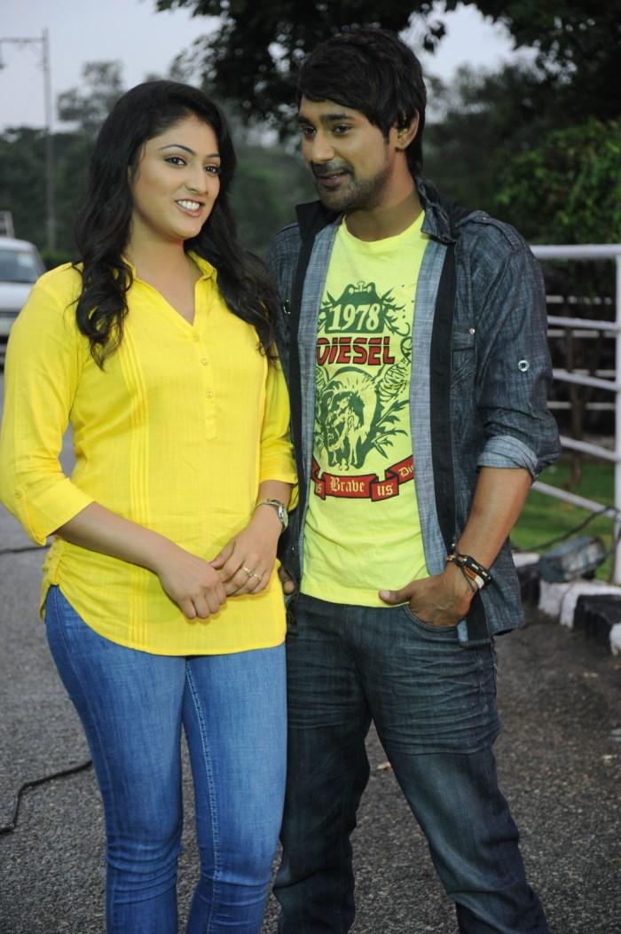 Haripriya, Varun Sandesh @ Ee Varsham Sakshiga Movie Location Photos