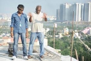 Director SS Rajamouli @ Eega Working Stills