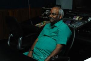 MM Keeravani at Emo Gurram Egaravachu Movie Song Recording Photos