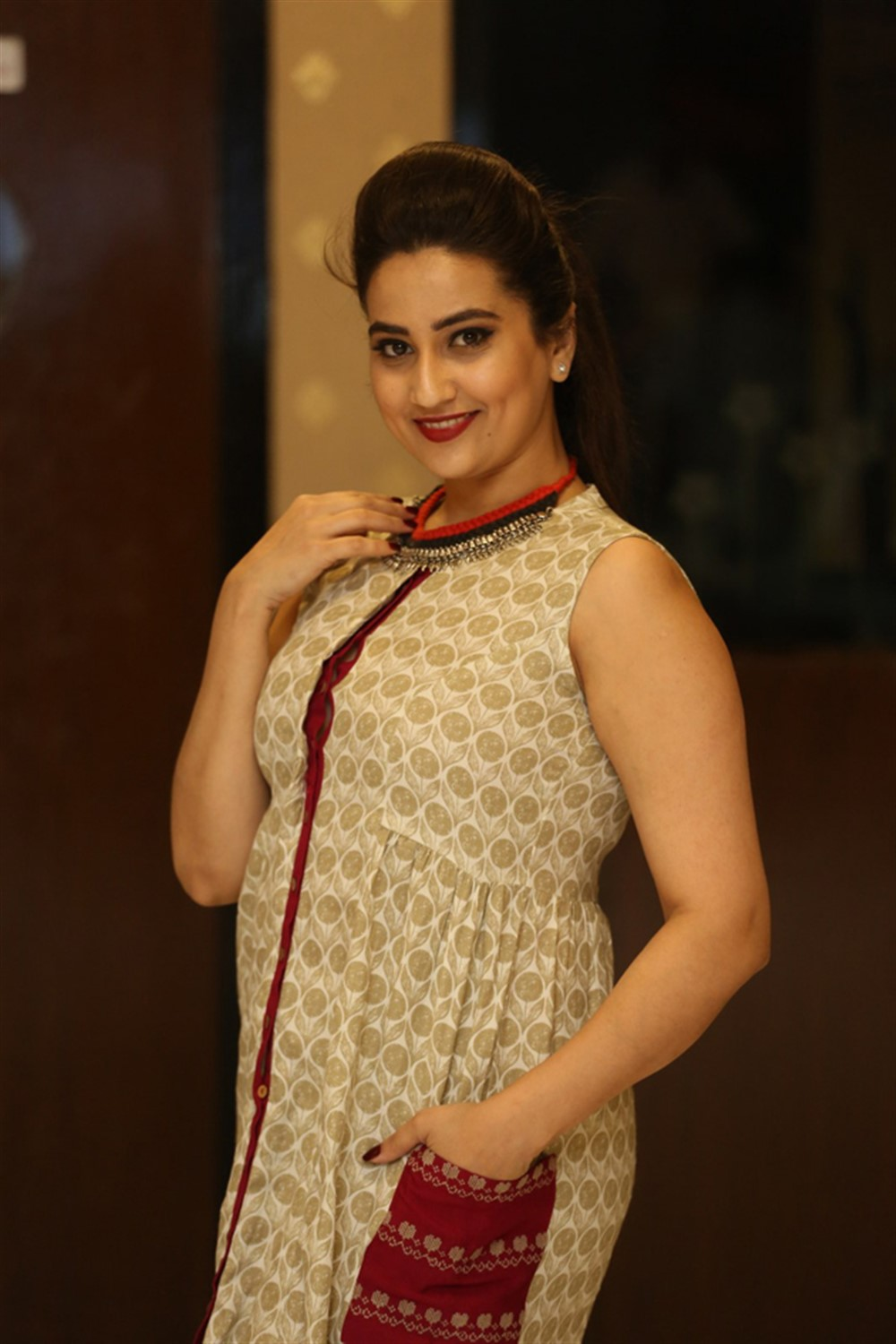 Manjusha @ Enthavaralaina Movie Audio Launch Stills