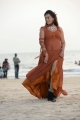 Actress Esther Noronha Hot Pictures in Moderate Orange Color Dress